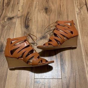 Restricted Shoes - Tan wedges - never worn